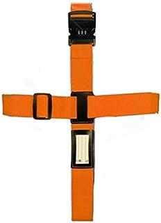 Baggage Belts Suitcase Cross Belt Luggage Strap Packing Adjustable Travel Nylon 3 Digits Password Lock Buckle Strap