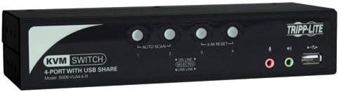 Tripp Lite 4-Port KVM Switch with Port USB Audio Ranking TOP12 All items free shipping 2 Cab Hub