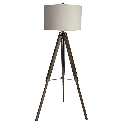 Martin Richard W-2026SIL Lámpara de pie, 60, gris desgastado/níquel pulido