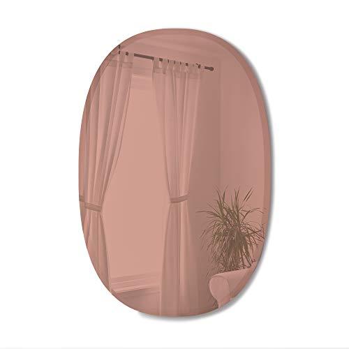 Umbra Bevy Miroir Mural Ovale avec Bord Arrondi pour Couloir, Salle de Bain, Salon et Plus, cuivre, 61 x 91,5 cm