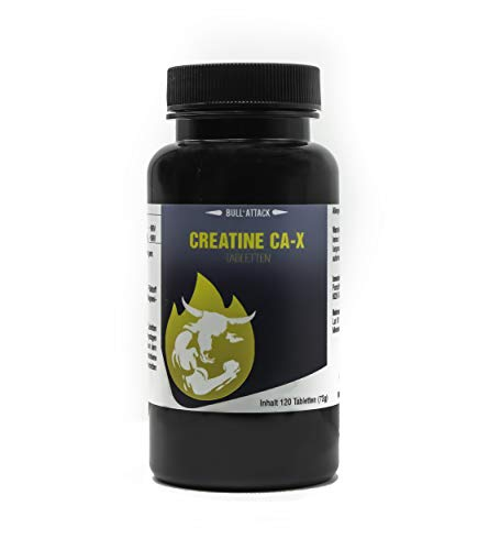 CA-X CREA Black Maximum | 120 Tablets Vegan | Creatine Alkaline (Kre-Alkalyn) | Creatine Alkaline Optimized with Vitamin B6 | Muscle Build-up - Mass Build-up - Strength Increase - Speed Strength