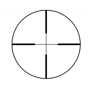 Redfield Revolution 4-12x40mm Riflescope with 4-Plex Reticle, Matte Black