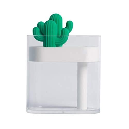 Jeseca Mini humidificador Transparente Creativo nórdica, Tipo Mini atomizador de Aire Pequeño USB humidificador (Color : White)