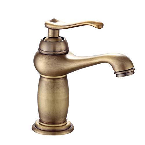 MONIK Baño Grifo Cascada, Frotó El Bronce/Oro/Latón Negro, Caliente Y Fría del Grifo Mezclador del Lavabo del Grifo De Baño