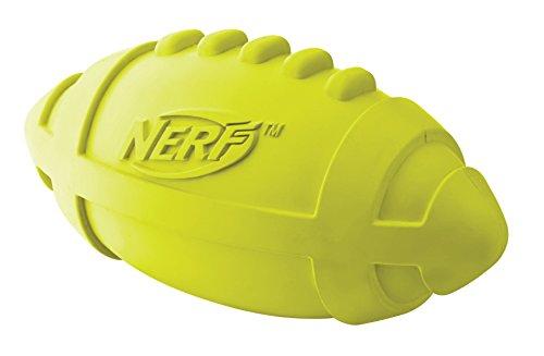 Nerf Dog Squeak Football - Gummi Football mit Quiteschgeräusch 17,8cm