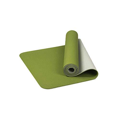 ZSDFQC Tappetino per Yoga Yoga Mats Uomini |Spesso Doppio Colore Antiscivolo Yoga di Forma Fisica Mat qualità Esercizio Sport Mat for Fitness Palestra di casa insapore Pad Tappetino Yoga Pieghevole