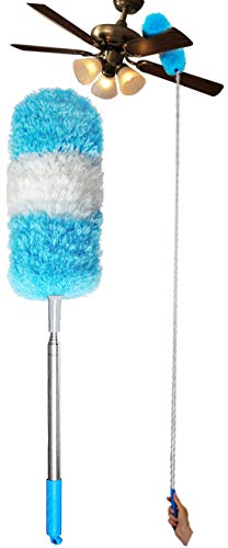 Sunroom 52 Inch Washable Microfiber Dusters Extendable for Cleaning High Dust Pole Removable …