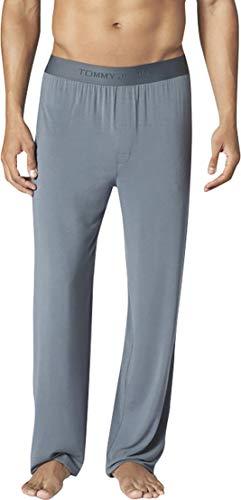 Tommy John Men's Second Skin Pajama Pants - Comfortable Soft Sleep & Lounge Bottoms for Men (Elastic Band, Turbulence, Large)