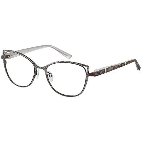Change Me Brille 2522-2 mit Wechselbügel 8768-1 braun beige