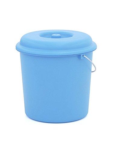 Plastiken - Cubo basura con tapa, plástico, azul 23 l