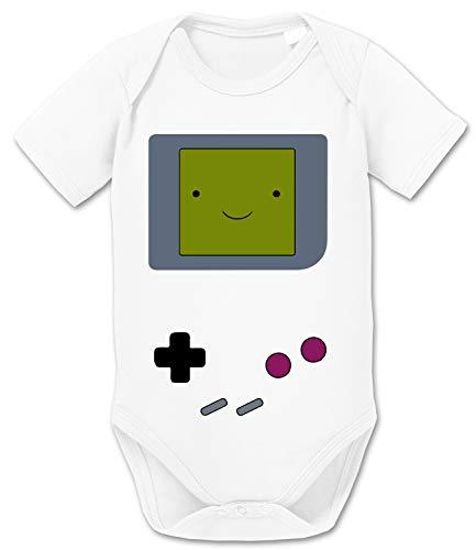 Game Smile Body PS bébé Coton Bio Proverbes Station Barboteuses Garçons et Filles 0-12, Größe2:56/0-2 Mois, Baby:Blanc