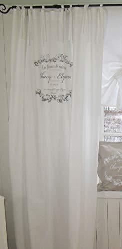 LillaBelle WEIß Vorhang Elegance Schlaufen Gardine 120x240 cm 2 Stück Bandaufhängung Landhaus Shabby Vintage