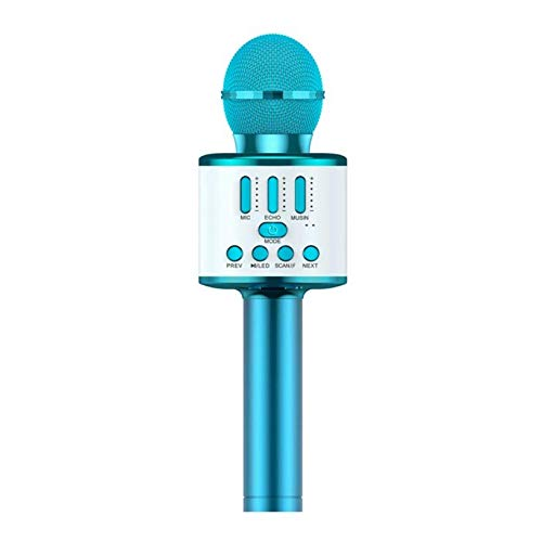 Kids Microphone, Wireless Bluetooth Karaoke Microphone with Selfie Function, Led Mic Toy for Kids, Wireless Bluetooth Speaker Recorder Handheld Karaoke Machine for Home KTV Birthday Party