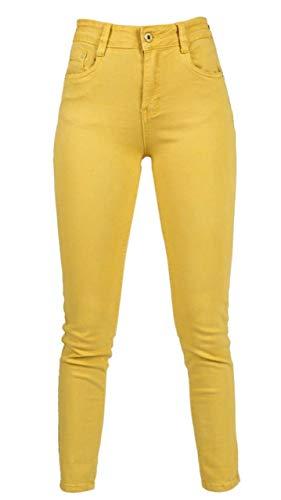 jeans donna farfallina Jeans Miss Sister Senape farfallina da Donna Elasticizzato Ragazza Morbido Push up Aderente Vita Alta Nuovi arrivi (XL)