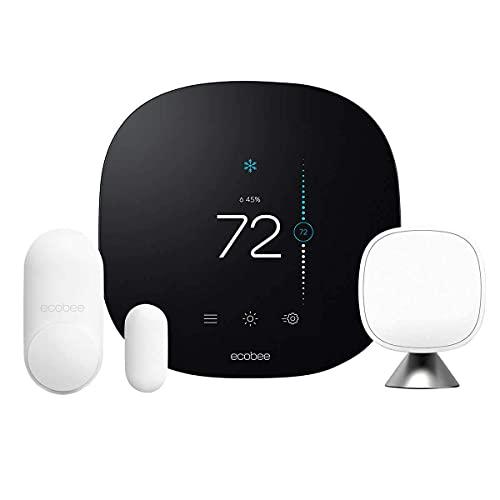 Ecobee3 Lite Smart Thermostat with Whole Home Sensors (1 Door/Window, 1 SmartSensor)
