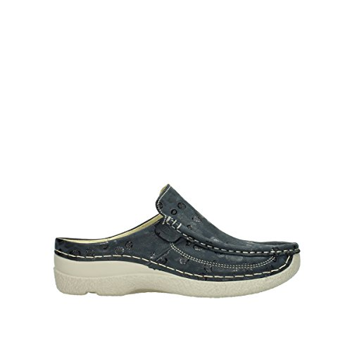 Wolky Comfort Clogs Roll Slide - 12820 Denim Nubukleder - 42