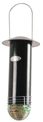 Esschert Design Meisenknödelautomat, Futtersilo für Futterbälle mit Dach, zum Aufhängen, ca. 13 cm x 13 cm x 29