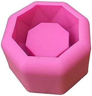 Loveinwinter moldes de Silicona para Cemento Suculentas ollas Molde Candelabro de Yeso Molde de Silicona