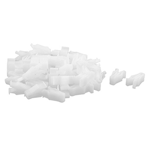 DyniLao 50Pcs Dashboard Automotive Dashboard White Plastic Clip