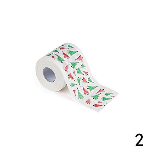 SMARTRICH Weihnachts-WC-Papier, Weihnachts-Toilettenpapier, Papierrollen für Tisch, Wohnzimmer, Dekoration