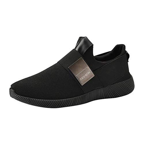 Vovotrade Heren Outdoor Mesh Round Toe ventilatie loopschoenen sportschoenen vrijetijdsschoenen lichte atletische gymschoenen sport stootvast modieuze wandelschoenen