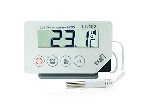 TFA Dostmann LT-102 Profi-Digitalthermometer, mit Kabelfühler, wasserdicht IP65