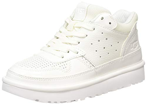 UGG Female Highland Sneaker Shoe, White / White, 6 (UK)