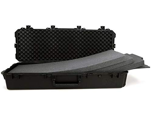 PELI Storm IM3220 Maleta técnica Larga con Ruedas para Transportar trípodes y Rifles de Caza, Watertight and Dustproof, 86L de Capacidad, Fabricada en EE.UU, con Espuma Personalizable, Color Negro