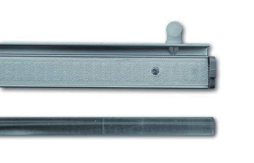 Gardineum Flächenvorhangschiene Vorhangschiene für Schiebevorhang und Gardinen Gadinenschiene, vorgebohrt, weiß (Alu-Paneelwagen, weiß)