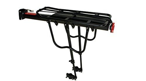 Universal Fahrrad Gepäckträger für hinten | Belastbarkeit: 50 kg | Aluminum Sattelstütze |Citybike Taschenträger | Mountainbike Gepäck Träger mit Schnellspanner | Farbe Schwarz | Fahrrad Zubehör