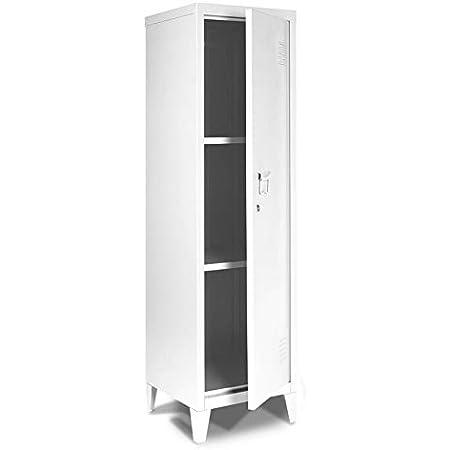 IDMarket - Armoire vestiaire Estel en métal blanche