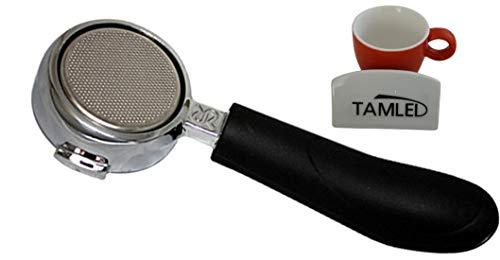 Siebträger bodenlos + Espressotasse...