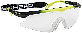 HEAD Racquetball Goggles - Powerzone Shield Anti Fog & Scratch Resistant Protective Eyewear w/Adjustable Strap