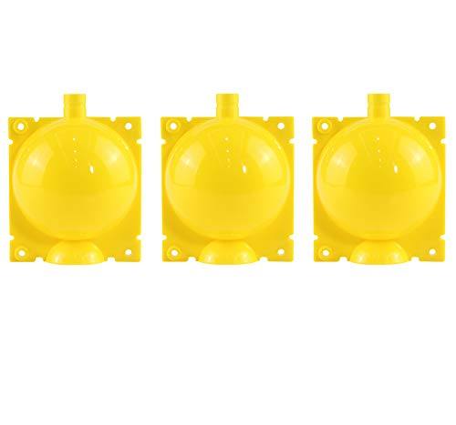Vinyl Etchings Plant Rooting Device,3 Pack Assisted Cutting Rooting,Plant Root Growing Box,Combination Reusable Plant Root Growing Ball (Medium, Yellow)