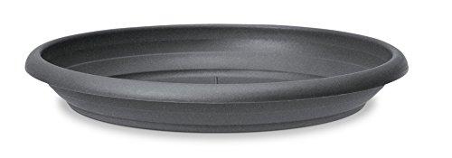 Scheurich Untersetzer aus Kunststoff, Metallic Grey, 30 cm Durchmesser, 4,7 cm hoch