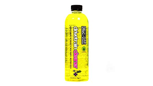 Muc Off Bio Drivetrain Cleaner, 750 Milliliters - Effective Biodegradable Bicycle Chain Cleaner and Degreaser Fluid - Suitable for All Types of Bike, Yellow