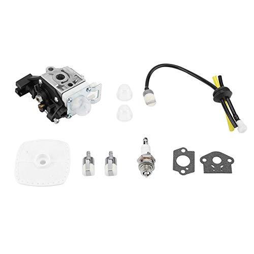 Asixx Kit carburatore, carburatore per Zama RB-K93 Echo SRM-225 GT-225 Filtro Aria PAS-225 Kit Linea Carburante Accessori rasaerba Parti 0