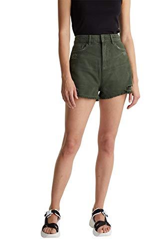 edc by ESPRIT Damen 050CC1C312 Shorts, 350/KHAKI Green, 36