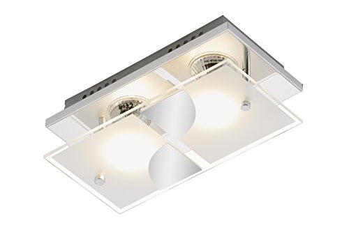 Briloner Leuchten LED Wandleuchte, Wandlampe, Wandlicht, Deckenleuchte, LED Lampe, Deckenlampe, LED Strahler, Wohnzimmerlampe, Deckenstrahler, Deckenleuchte Wohnzimmer, Deckenspot, Deckenbeleuchtung