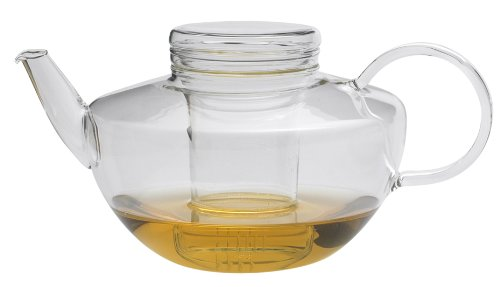Trendglas Jena Teekanne Opus in schlichter Ästhetik mit Glassieb, 1.2 L