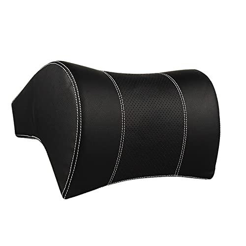 Anjing Almohada de cuello de coche reposacabezas reposacabezas cojín Premium accesorios interiores negro plata cuero algodón 28x21x16cm