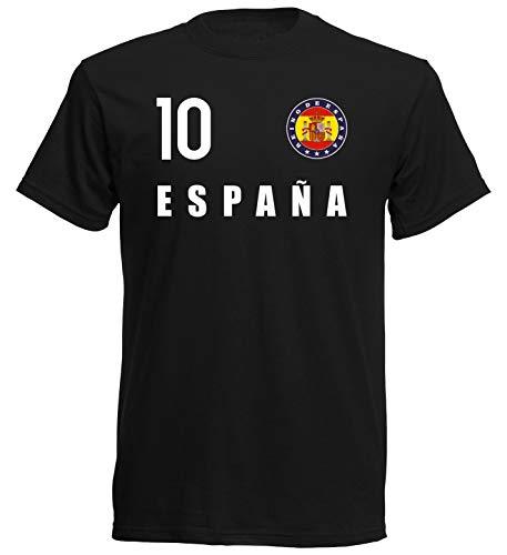 Maglietta con stemma della Nation Spagna FH 10 SC Nero XXL