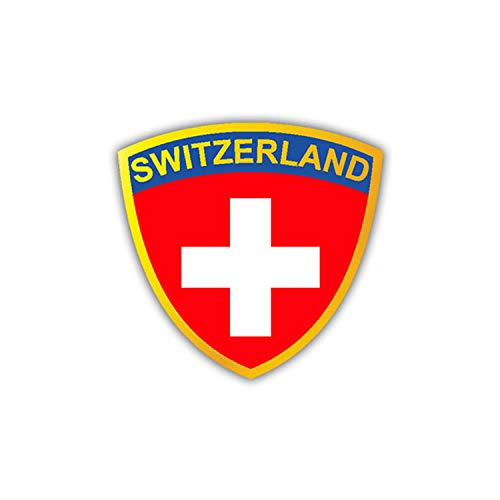 Aufkleber/Sticker Schweizer Armee Einheit Wappen Flagge Fahne 7x7cm A1217