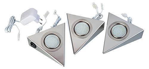 Nino Leuchten 79041631–Set di luci LED da incasso, in nichel opaco 79110307