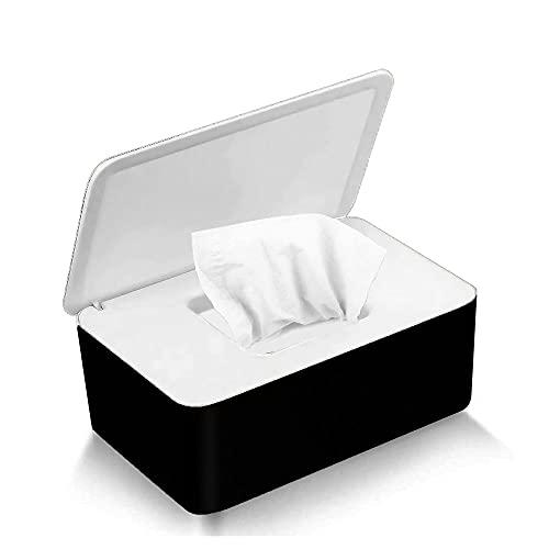 Caja para toallitas húmedas, caja de pañuelos para bebés, caja de papel higiénico (negro y blanco)