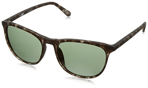 Spy Optic Cameo Wrap Sunglasses, Soft Matte Smoke Tort/Happy Gray/Green, 1.5 mm