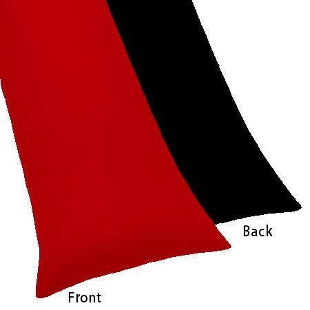 Crescent Multiple Colors – Reversible Zippered Red and Black Body Pillowcase- 200 Thread Count 21'x 54' (Red/Black)