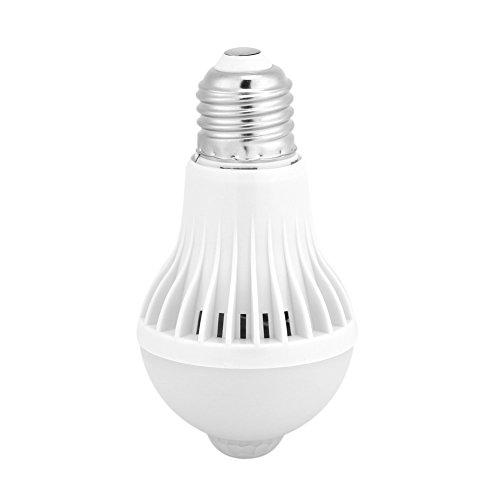 Keenso LED gloeilampen met E27 bewegingsmelder intelligente infraroodsensor PIR LED gloeilampen Auto-on/off-nachtlampje voor buitentrappen garagegang huisdeur tuin balkon woonkamer (9W)