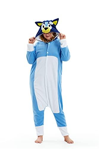 ROYAL WIND Adult Unisex Bluey Dog Pajamas Halloween Onesie Costume...