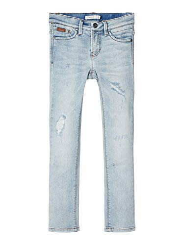 NAME IT jongens NKMTHEO DNMtem 1305 Pant NOOS Jeans, Light Blue Denim, 104